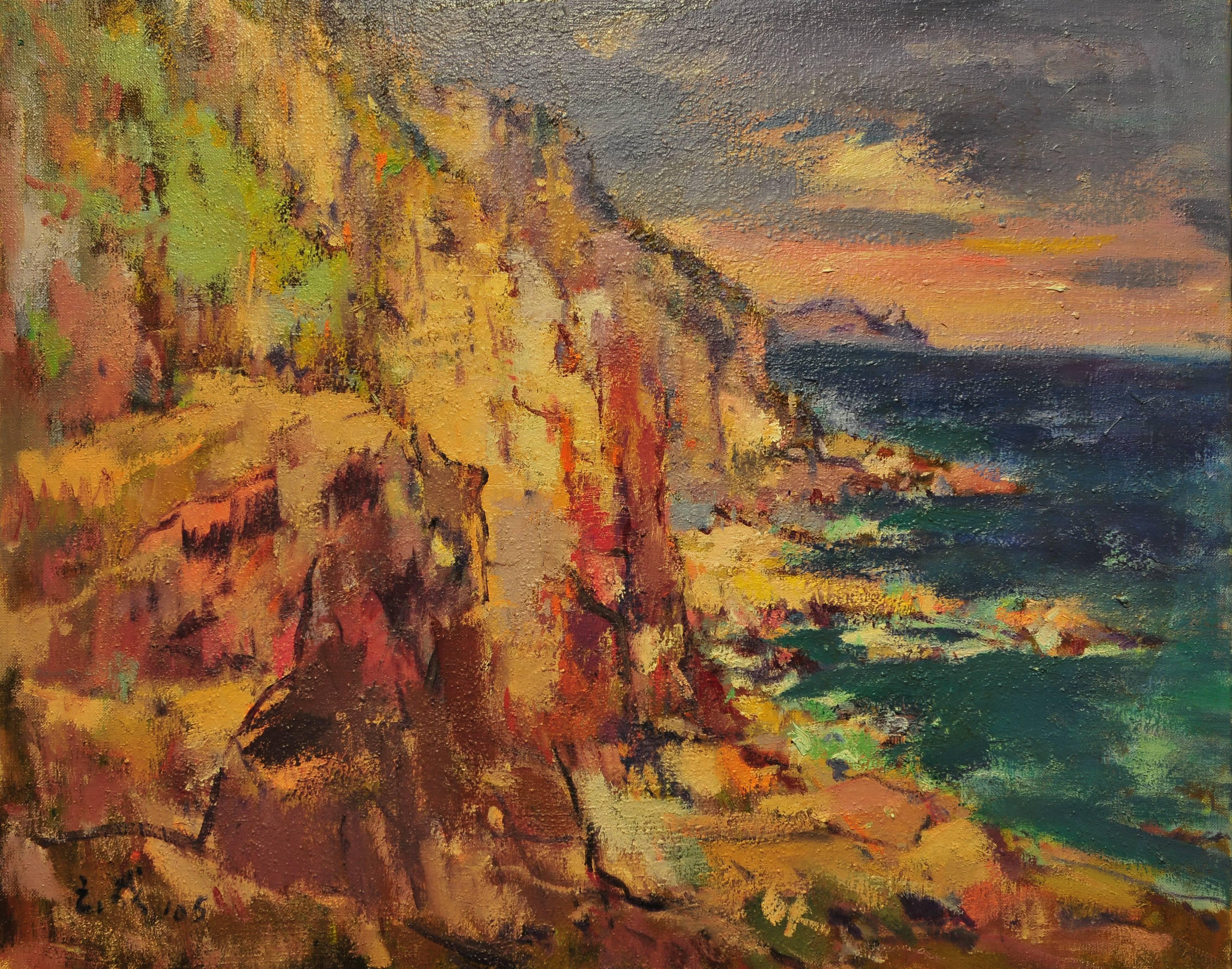 黃玉成|龍洞崖|2005|油彩|60.5x72.5cm