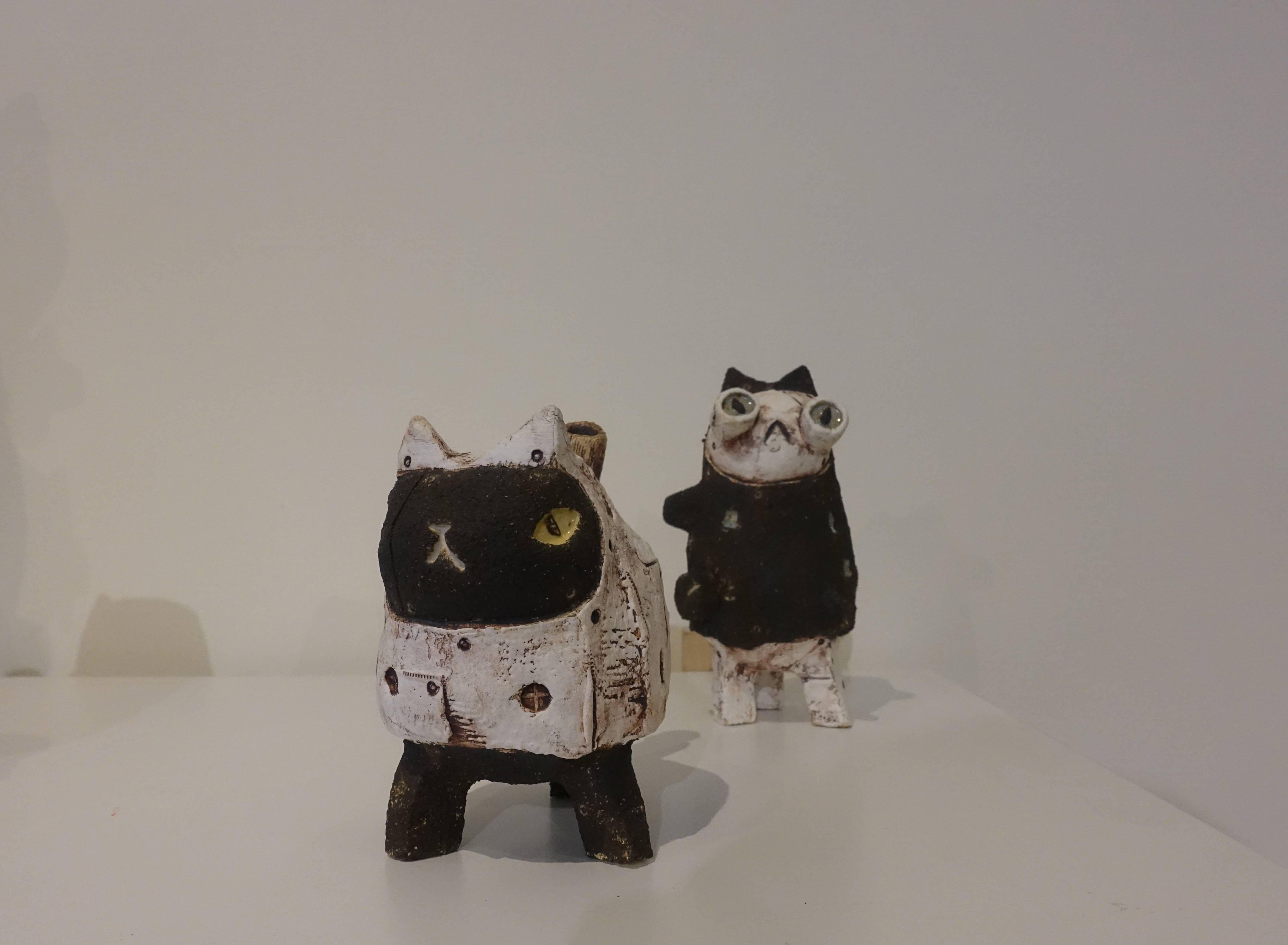 蔡文明,《三腳貓 #8》,陶,2018。