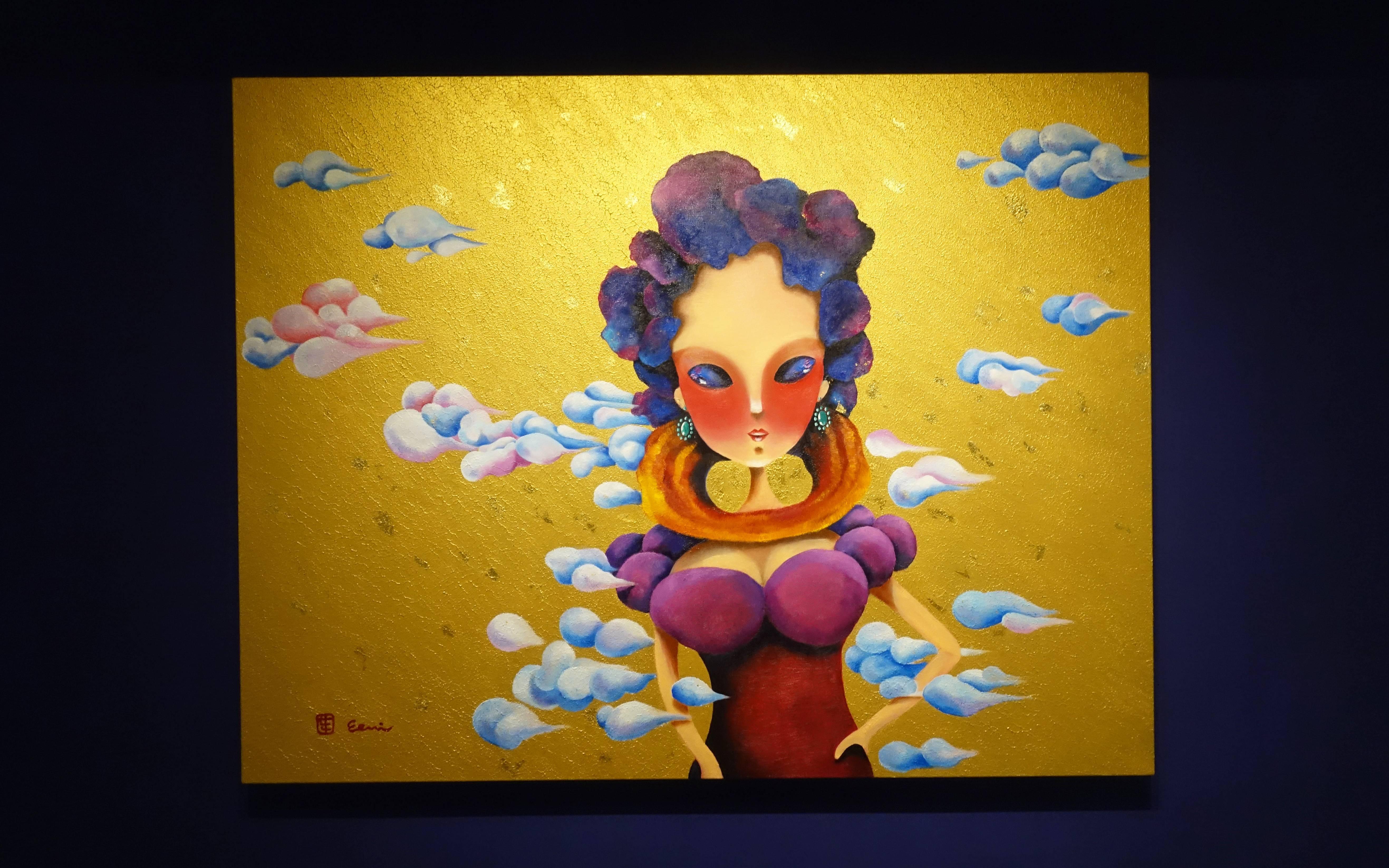 東明相,《在未來遇見自己(老娘NO.10)》,油畫,2016。