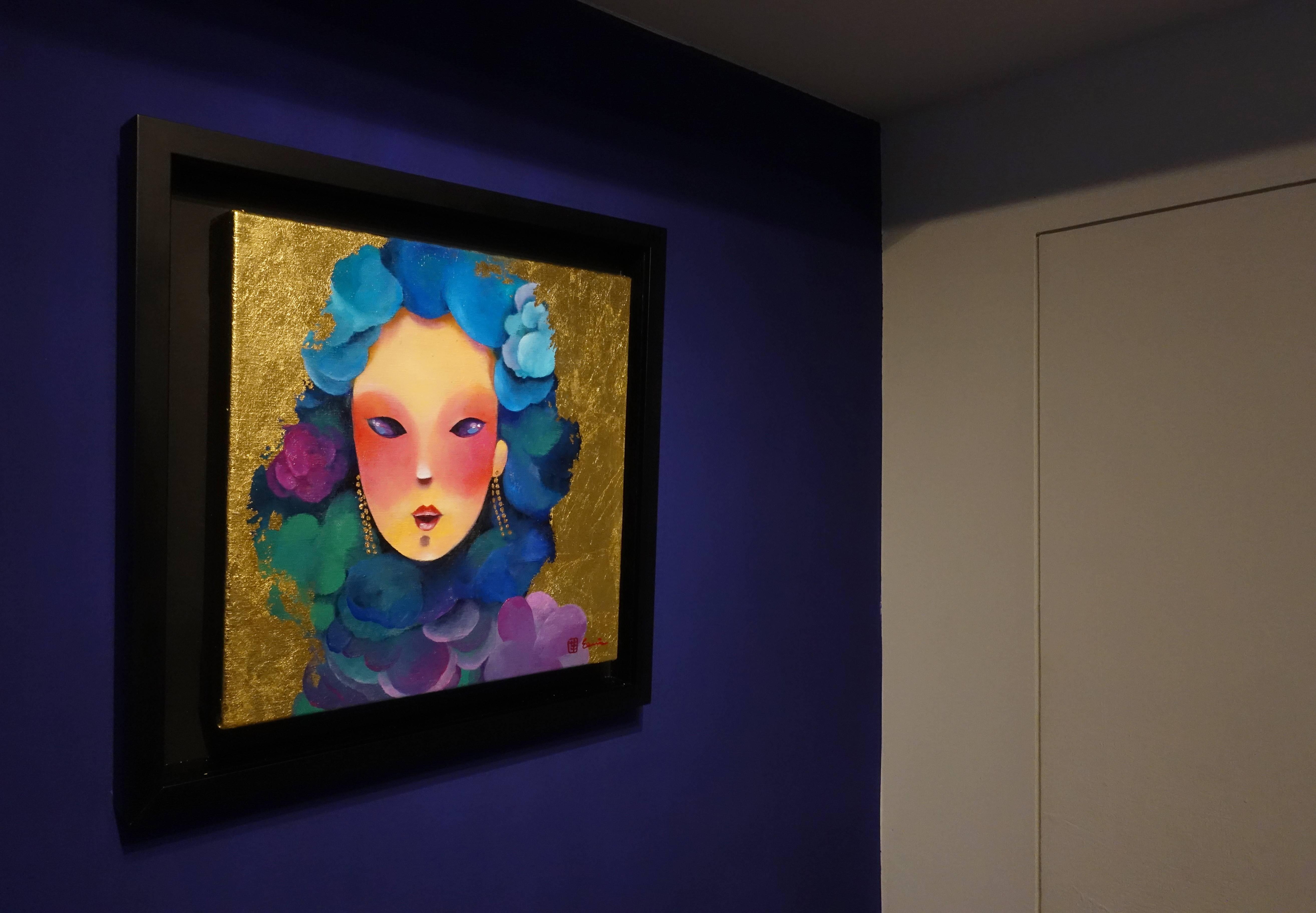 東明相,《獨特見解(老娘NO.27)》,油畫,2018。