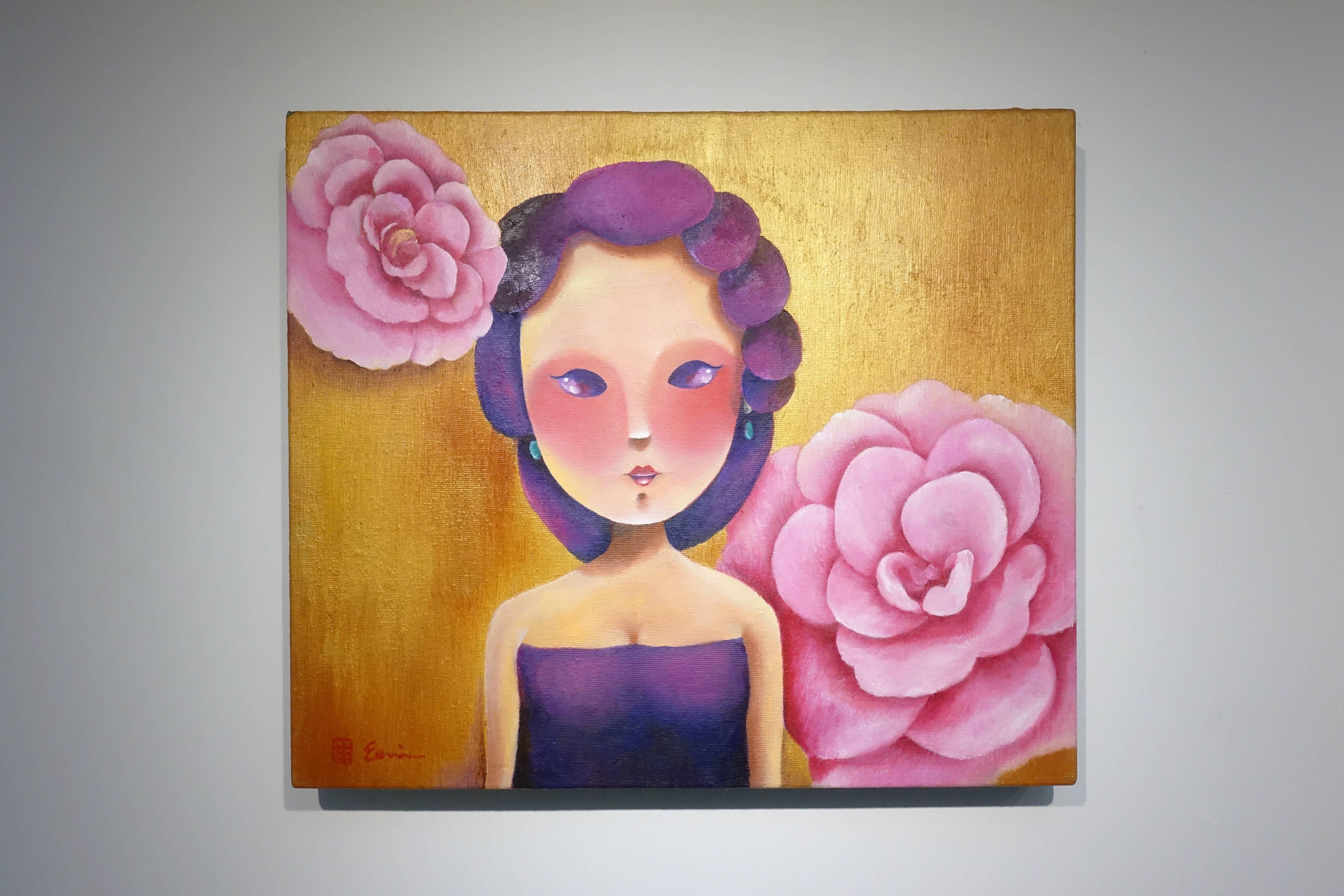東明相,《我有一個夢(老娘NO.25)》,油畫,2018。