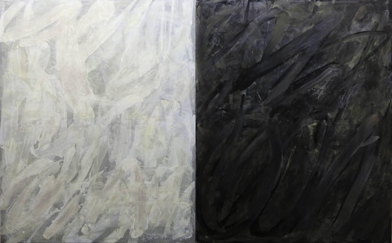 曾仕猷, MONO Duo, 2017年, 165x132cmx2pics(200F), 油彩畫布 / TZEN Sie-Ur, MONO Duo, 2017, 165x132cmx2pics, Oil on canvas