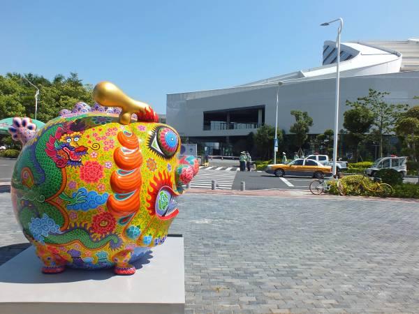 洪易 大圓龍 2018 鋼板彩繪 250×210×220 cm