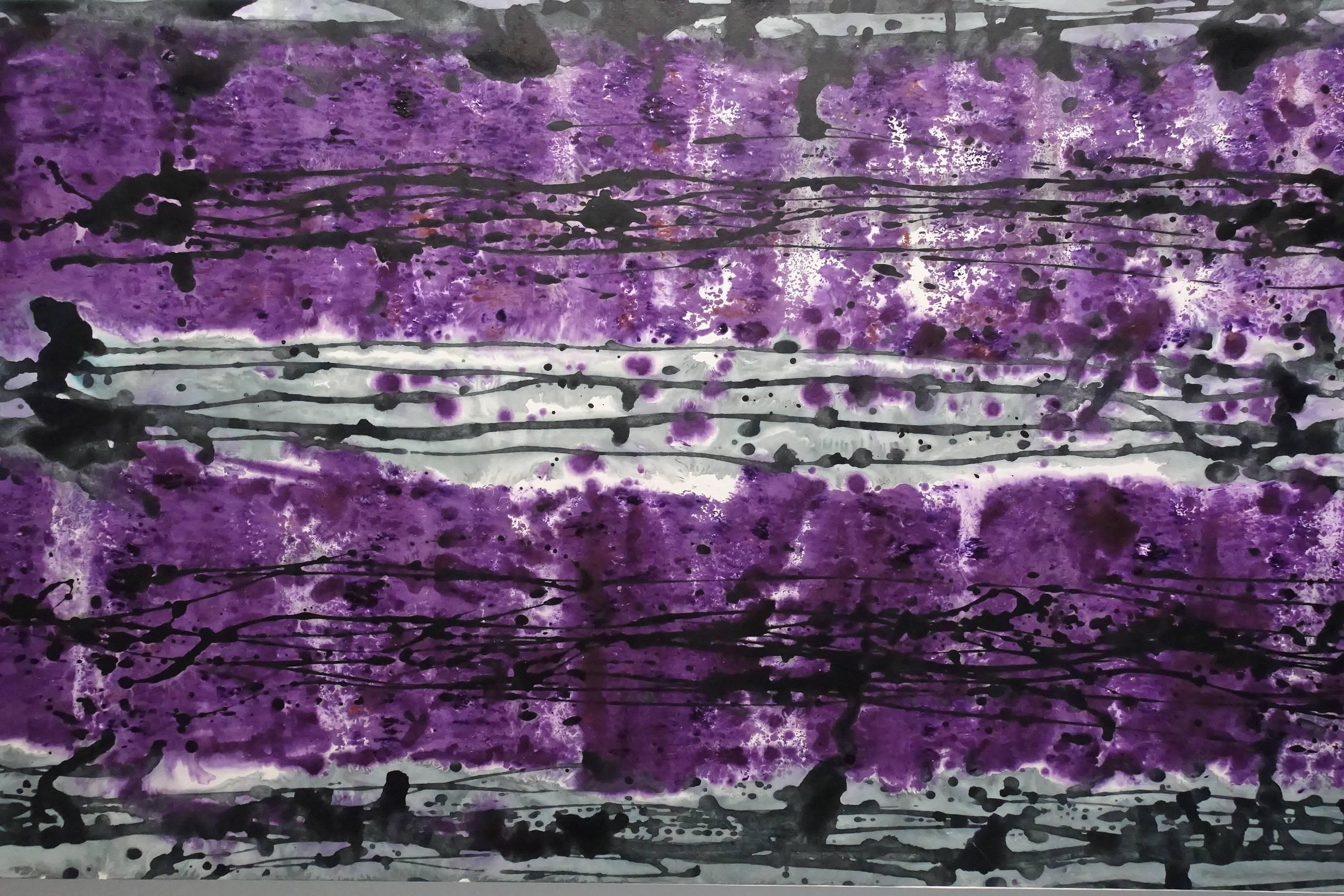 林莎作品《紫砂相映》局部。
