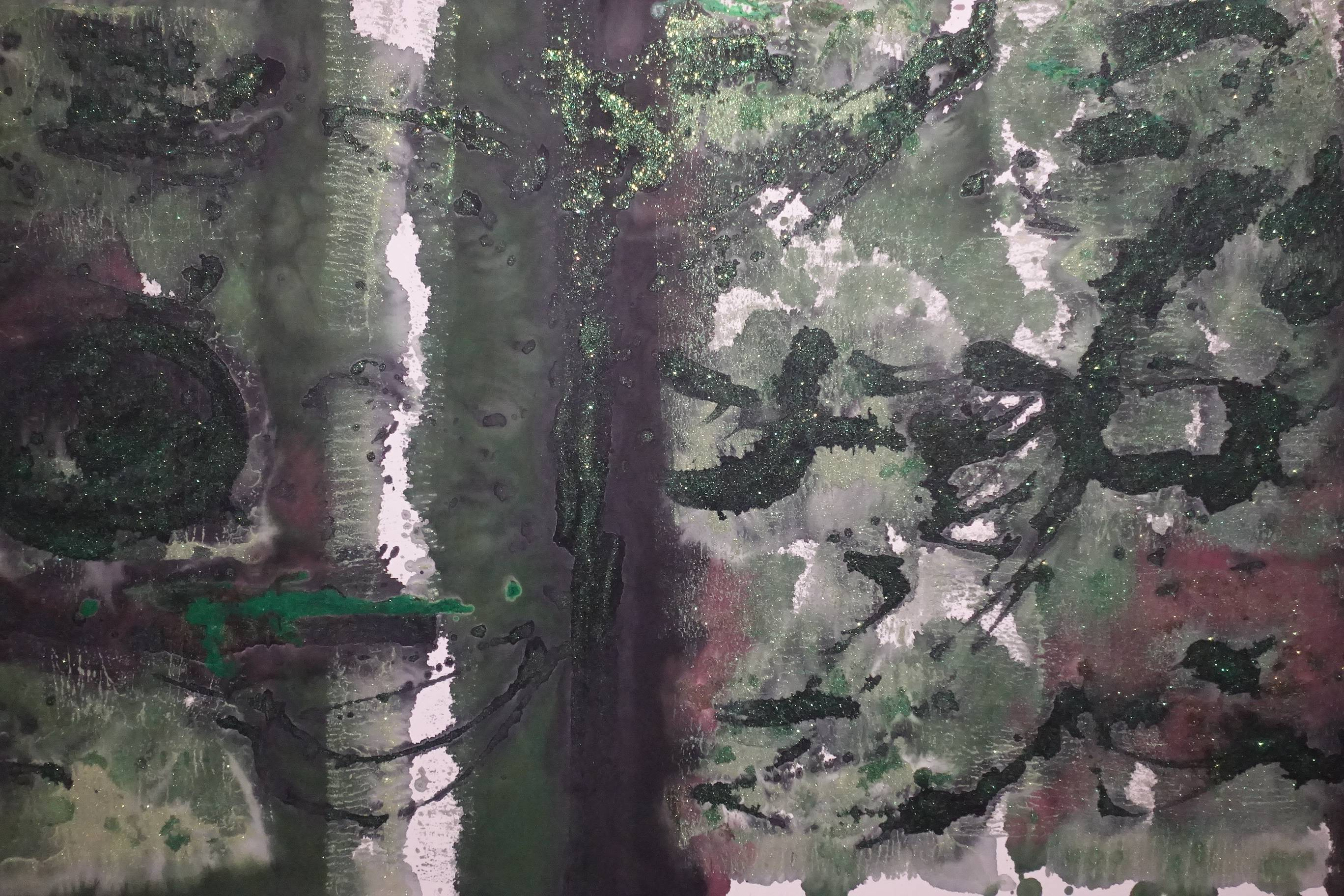 林莎作品《叢林中》局部。