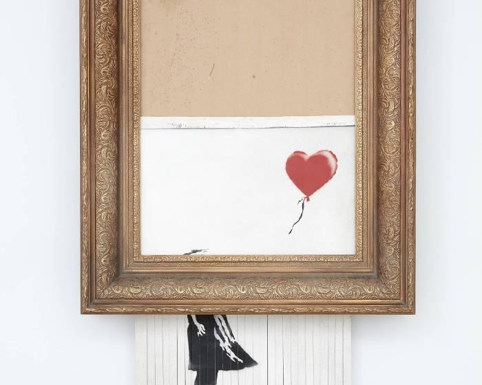 班克斯女孩與氣球確認成交 『新作完成』後命名為《垃圾桶中的愛》