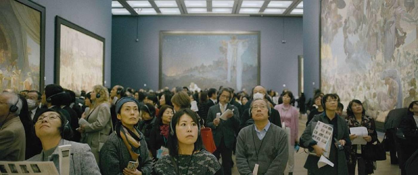 《慕夏壯麗藝術祭》劇照。圖/聯影電影cineplex提供。