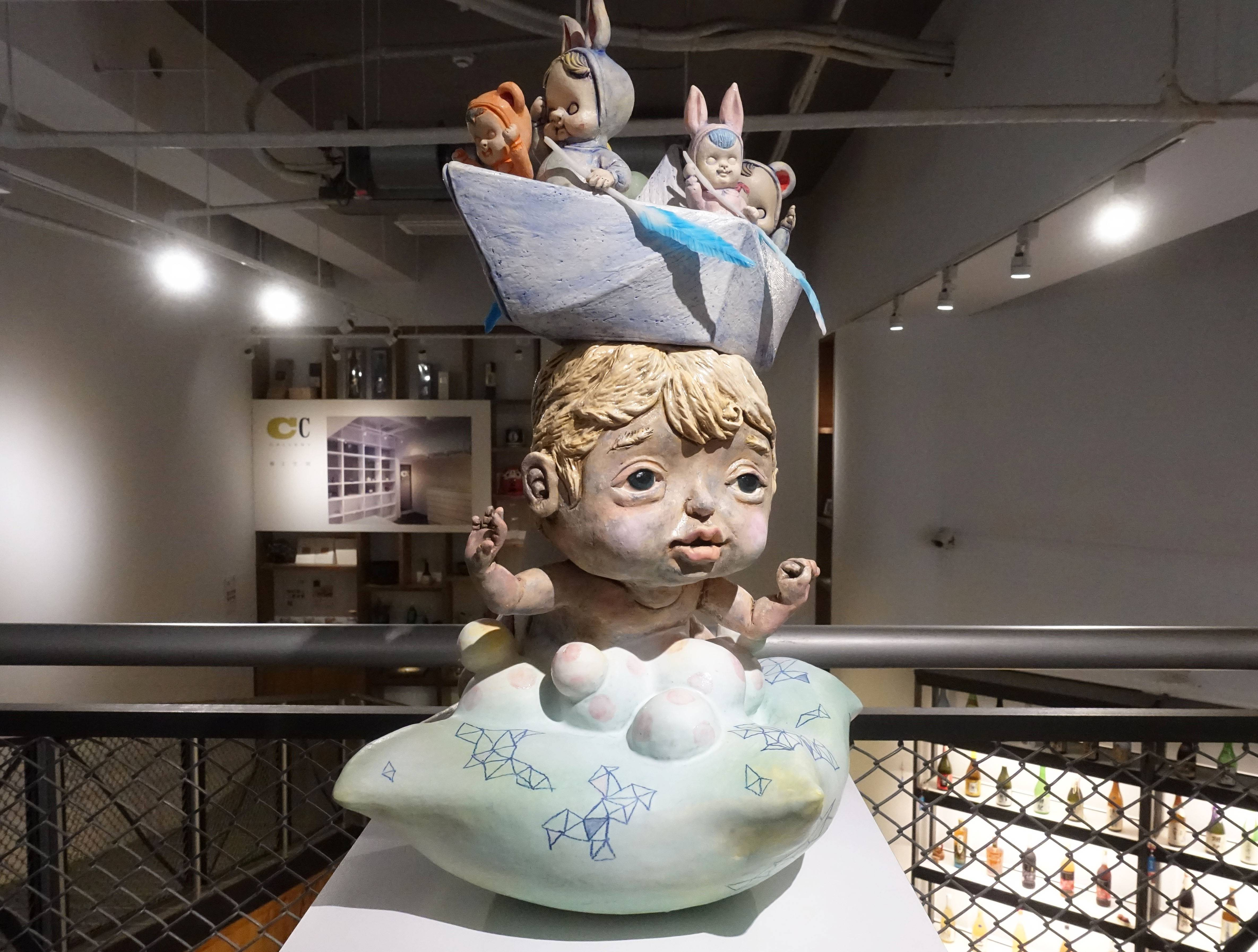 唐瑄,《前進夢不落》,陶瓷。