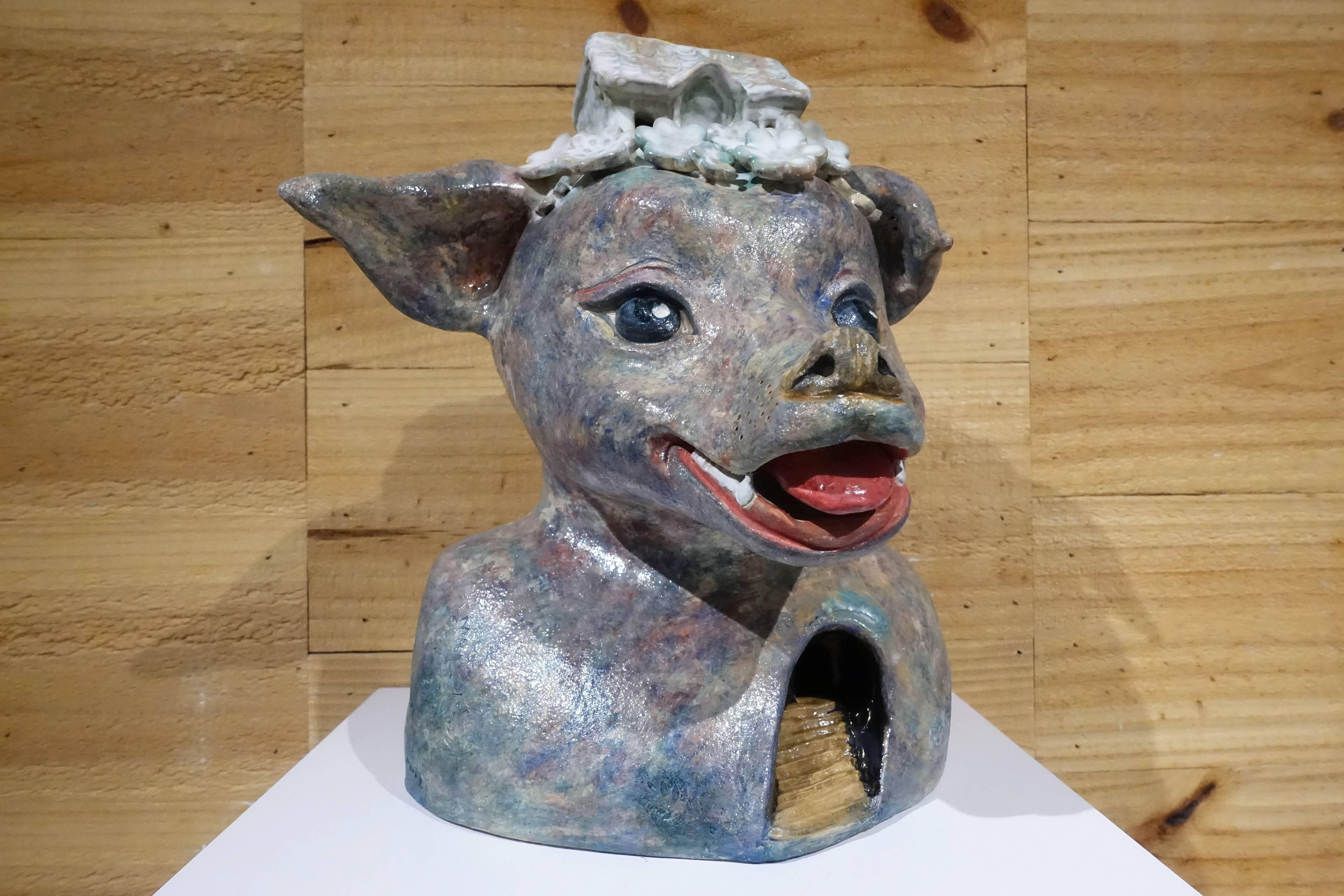 唐瑄,《心之所向》,陶瓷。