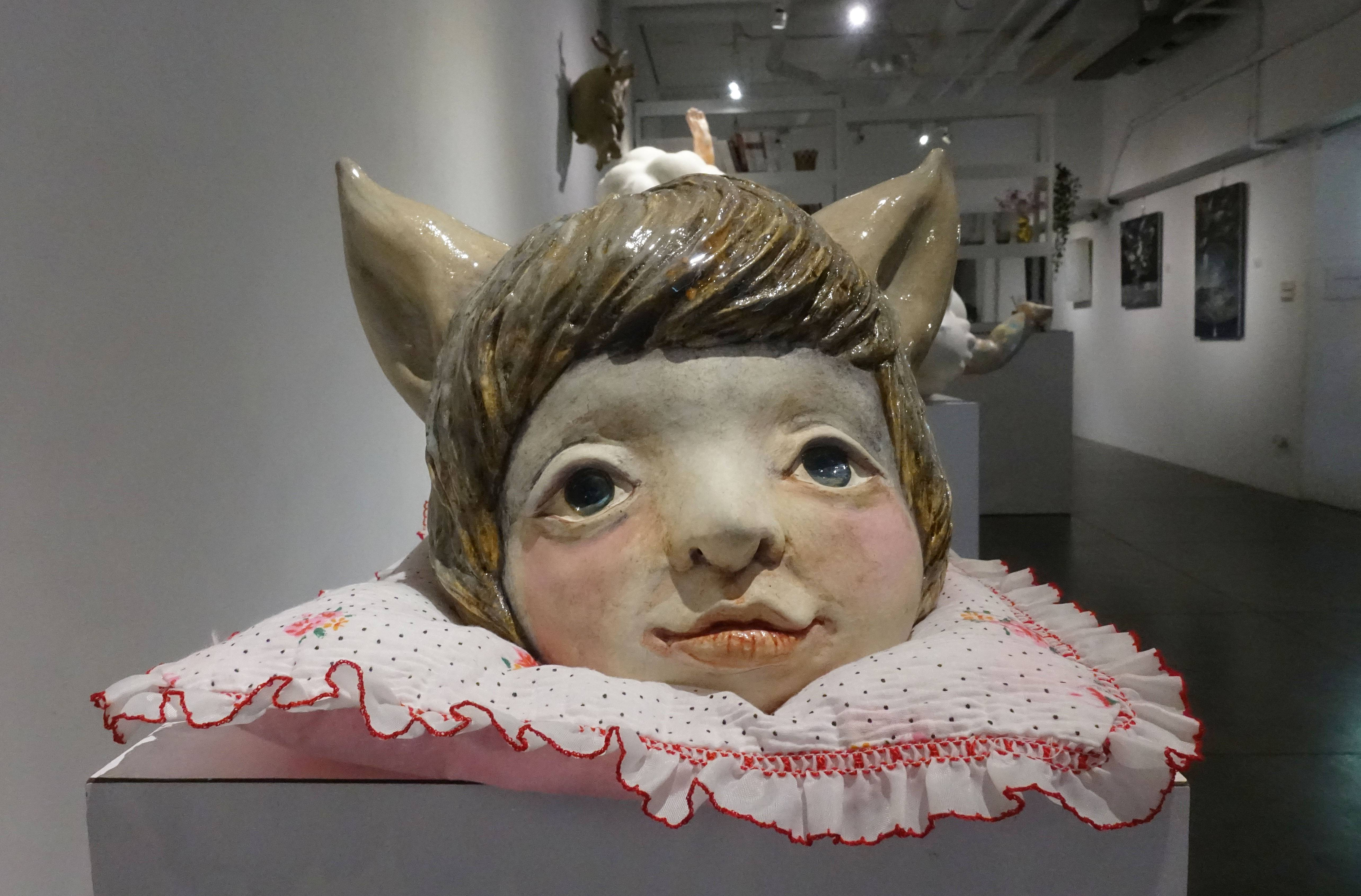 唐瑄,《雙面亞當》,陶瓷。