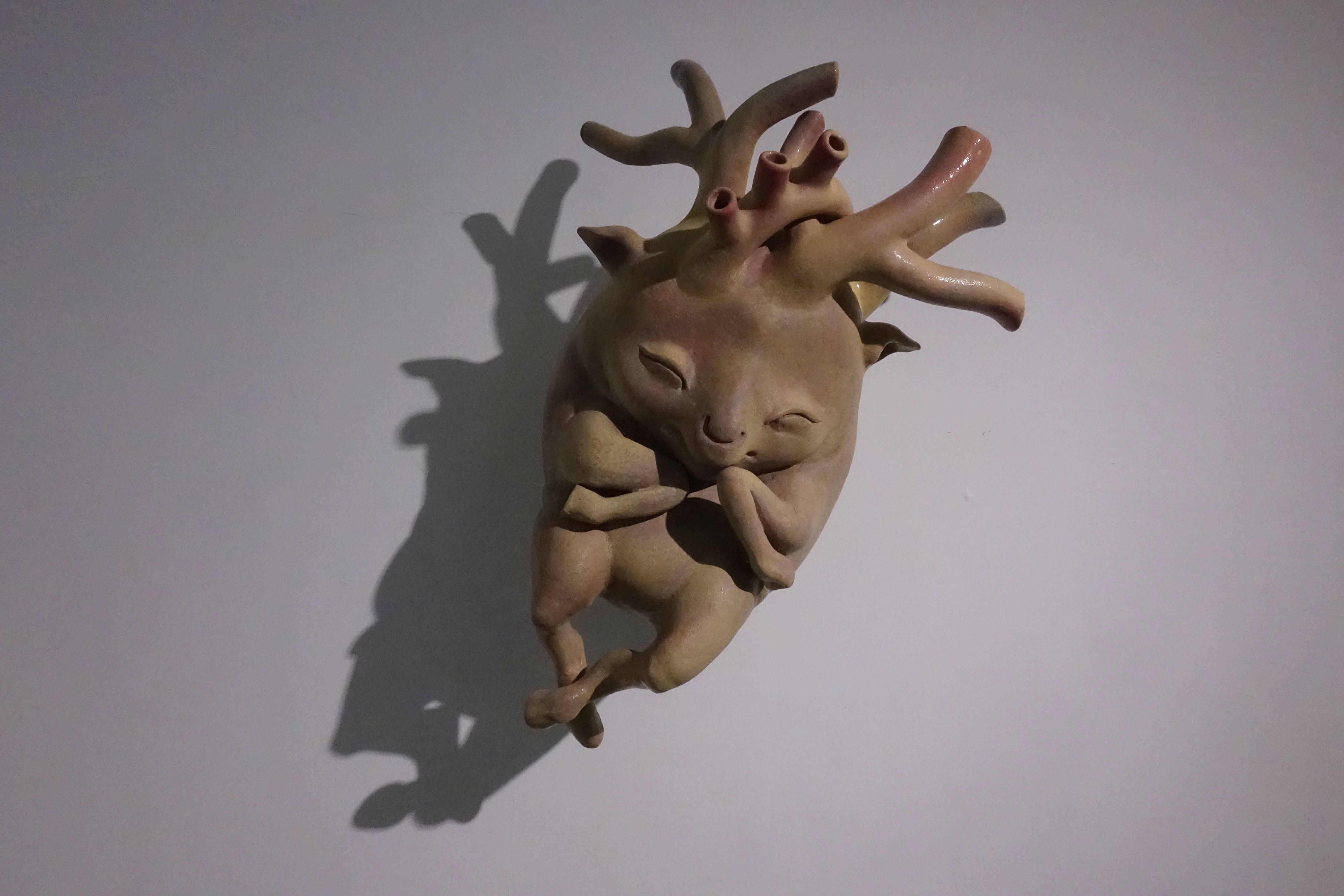 唐瑄,《鹿鹿心》,陶瓷。