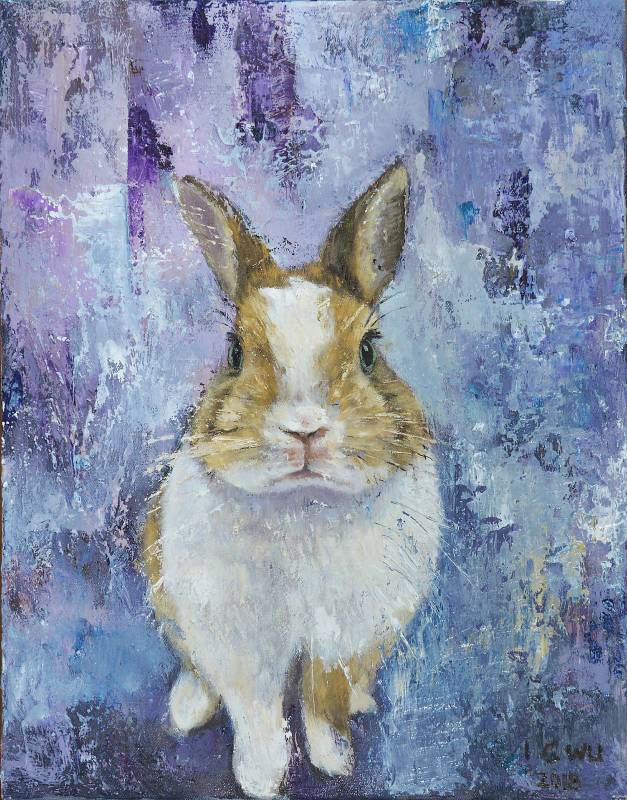 吳怡蒨,波波幼兒院,31.5 x 41 cm,油畫,2018年 / WU I-Chien, PoPo Kindergarten, 31.5 x 41 cm, Oil on Canvas, 2018