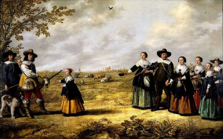 Aelbert Cuyp,《Portrait of a Family in a Landscape》,1641。圖/wikimedia。
