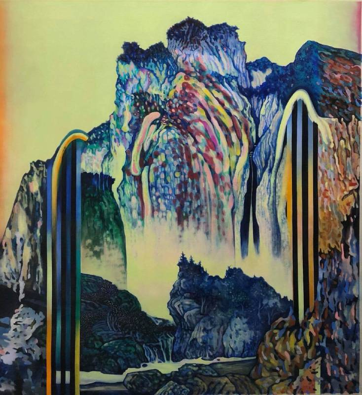 高雅婷,山#2  ( 2018  油彩畫布  145.5x133.5cm ) ( 心晴美術館 Wellington Gallery )