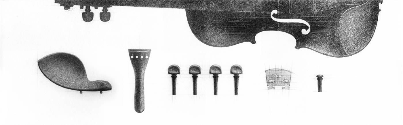 王紀凡, 附屬表層的結構 Constructed Figure Attachments, 73.6x22.9cm, Pencil on Paper, 2012