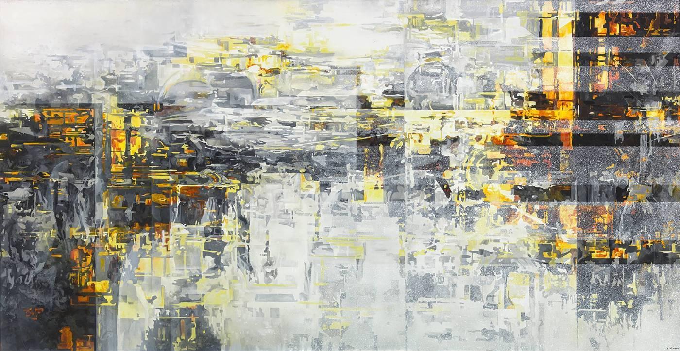 王建文 觀星者系列-影響 2017 油彩、畫布 102×198.5cm