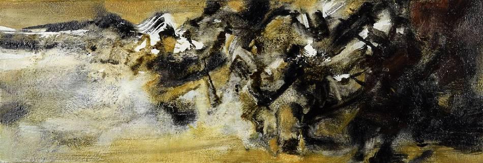周宸 Chou Chen / 戊戌季夏廿六 2018.08.07, 油畫 Oil on canvas, 30x88 cm ,2018