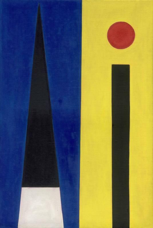 霍剛, 抽象2010-053, 150x100 cm, 油彩、畫布, 2010