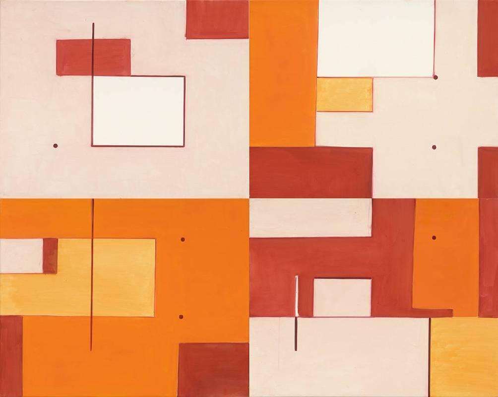 霍剛, 抽象2018-001, 72.5x91cm(x4), 油彩、畫布, 2018