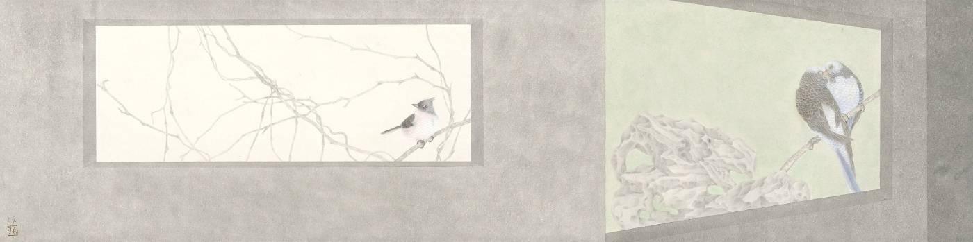 韓非 重生列2 131.5x32.5cm 紙本設色 2018