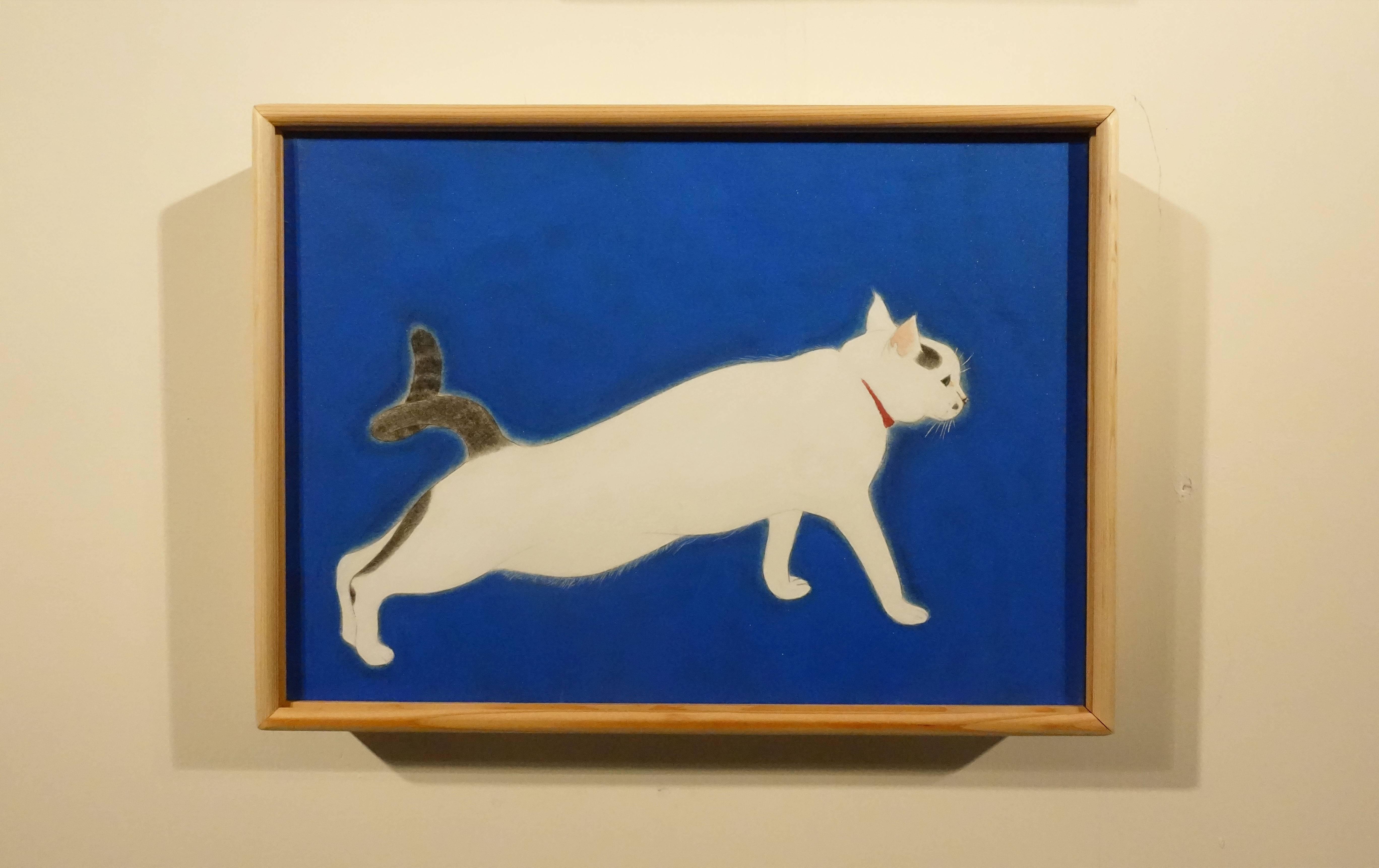 葉采薇,《青中白》,2017,紙本設色,29 x 21 cm。