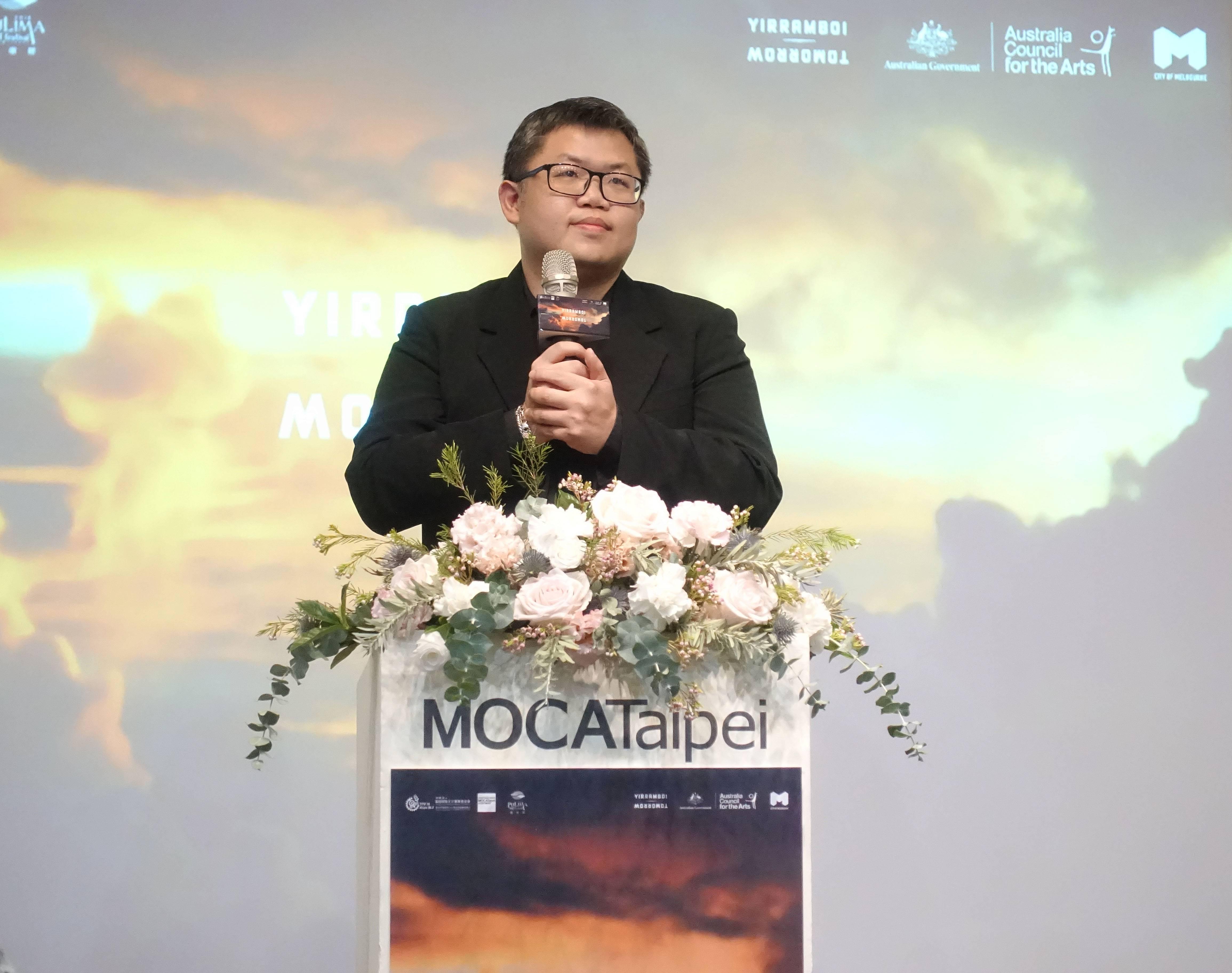 台北當代藝術館副館長致詞。