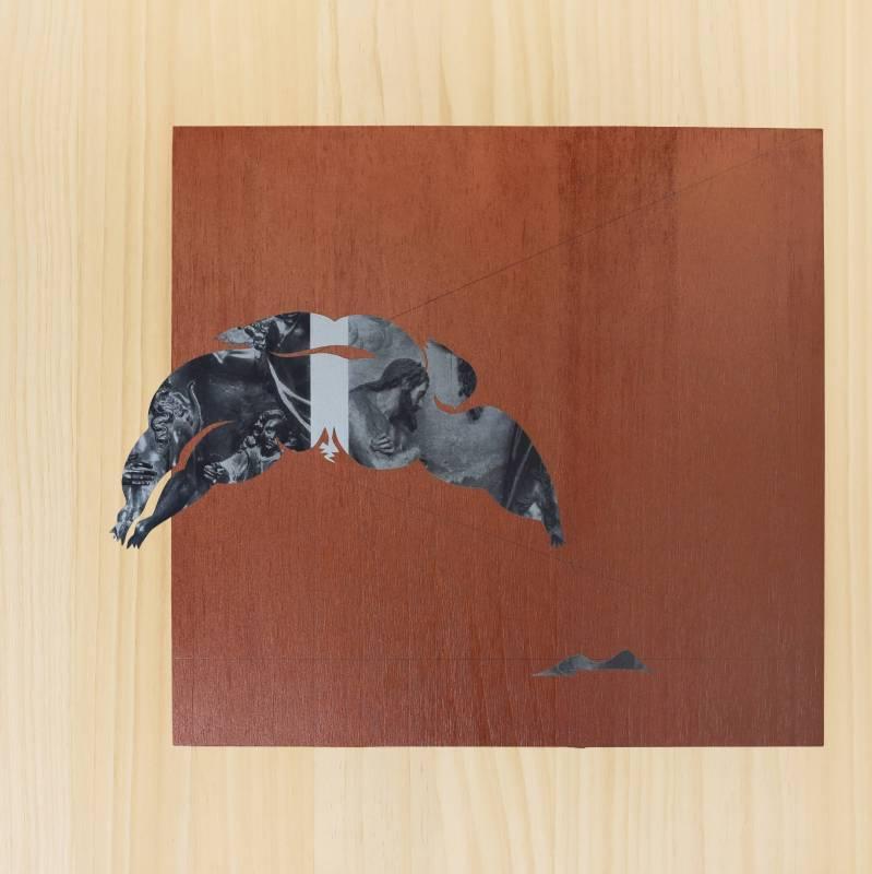 吳耿禎 落腳-04 2018 壓克力顏料、紙、木板 ed.1/1 40×40×1.2cm