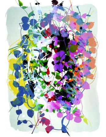 鐘有輝, 白色心情, 60x40 cm, 絹印、紙張, 2000