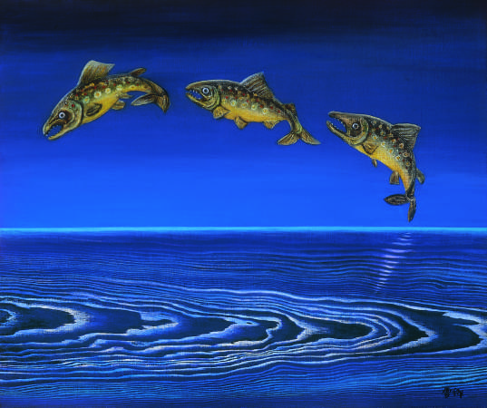 林雪卿, 躍, 60.5x72.5 cm, 綜合媒材、畫布, 1994