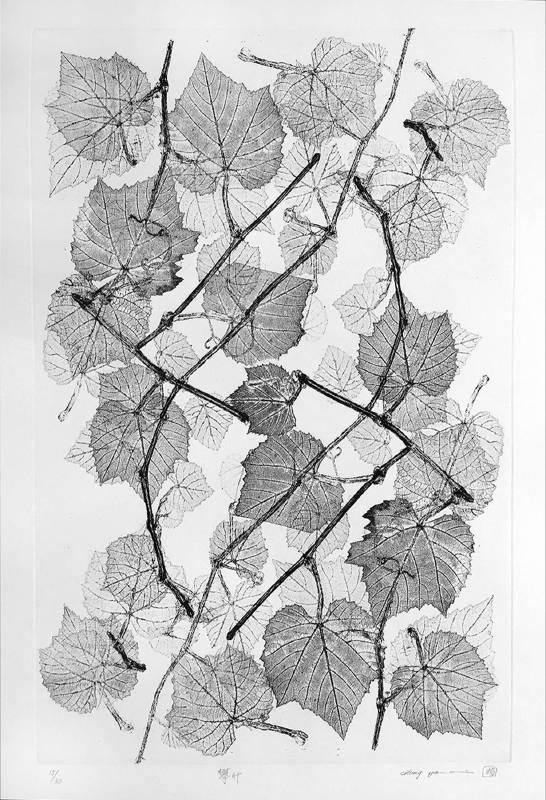 鐘有輝, 攀升, 60x40 cm, 蝕刻版、紙張, 2018