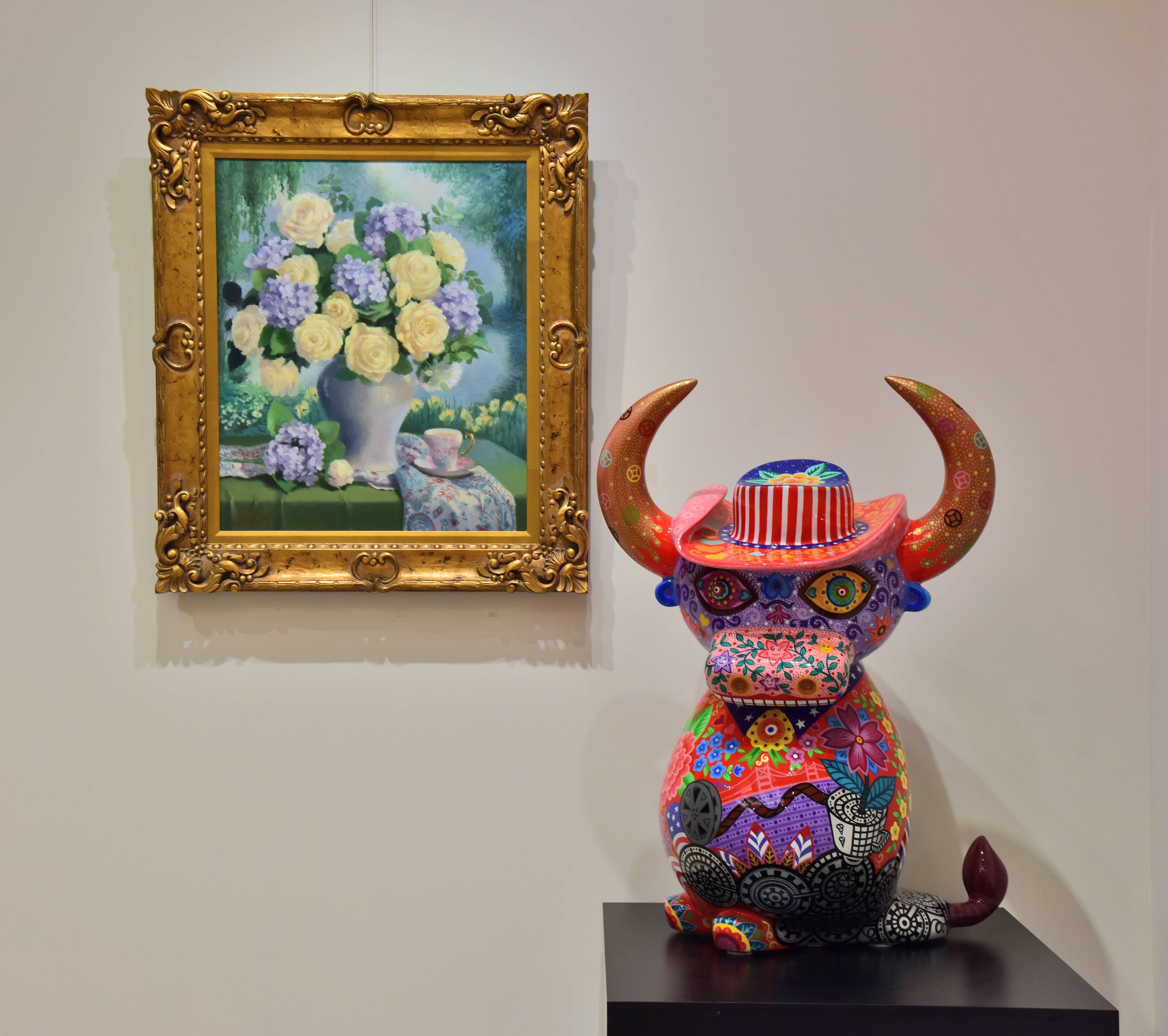 美利堅水牛| 2017|鋼板彩繪|75x47x98cm