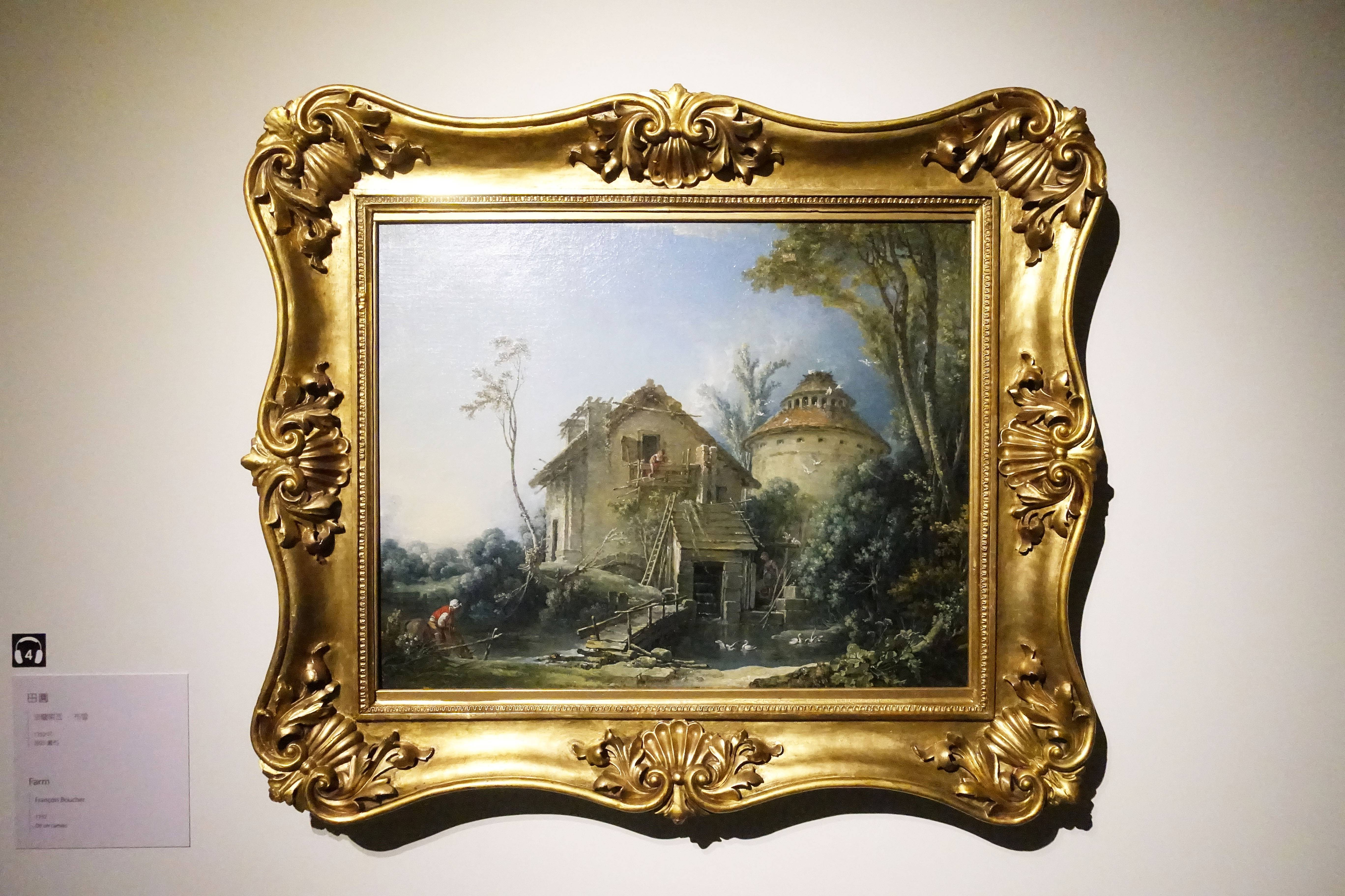 法蘭索瓦.布雪 François Boucher,《田園 Farm》,油彩、畫布 Oil on canvas。