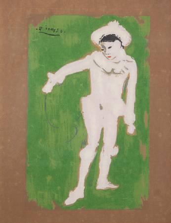 畢卡索,白色小丑,1901。