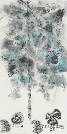 彩墨系列之四十三 137.5x69.5cm 彩墨、紙 2013