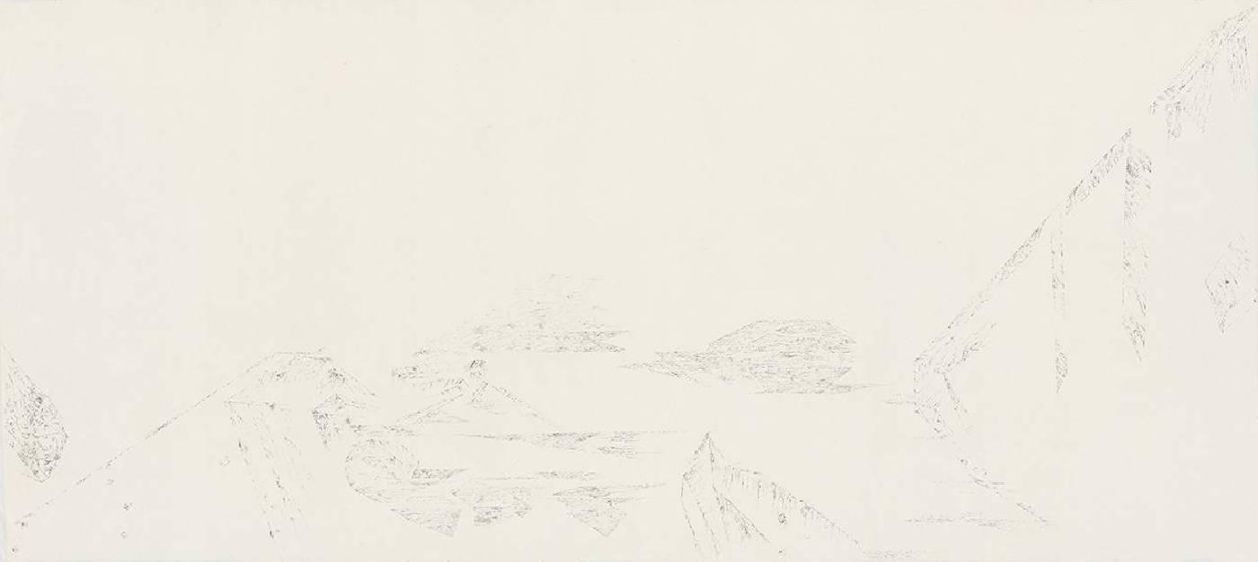 細筆系列之十五 98x218.5cm 水墨、紙 2018
