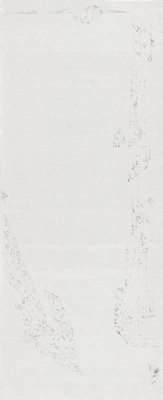 細筆水墨系列之十二 180x75cm 水墨、紙 2016