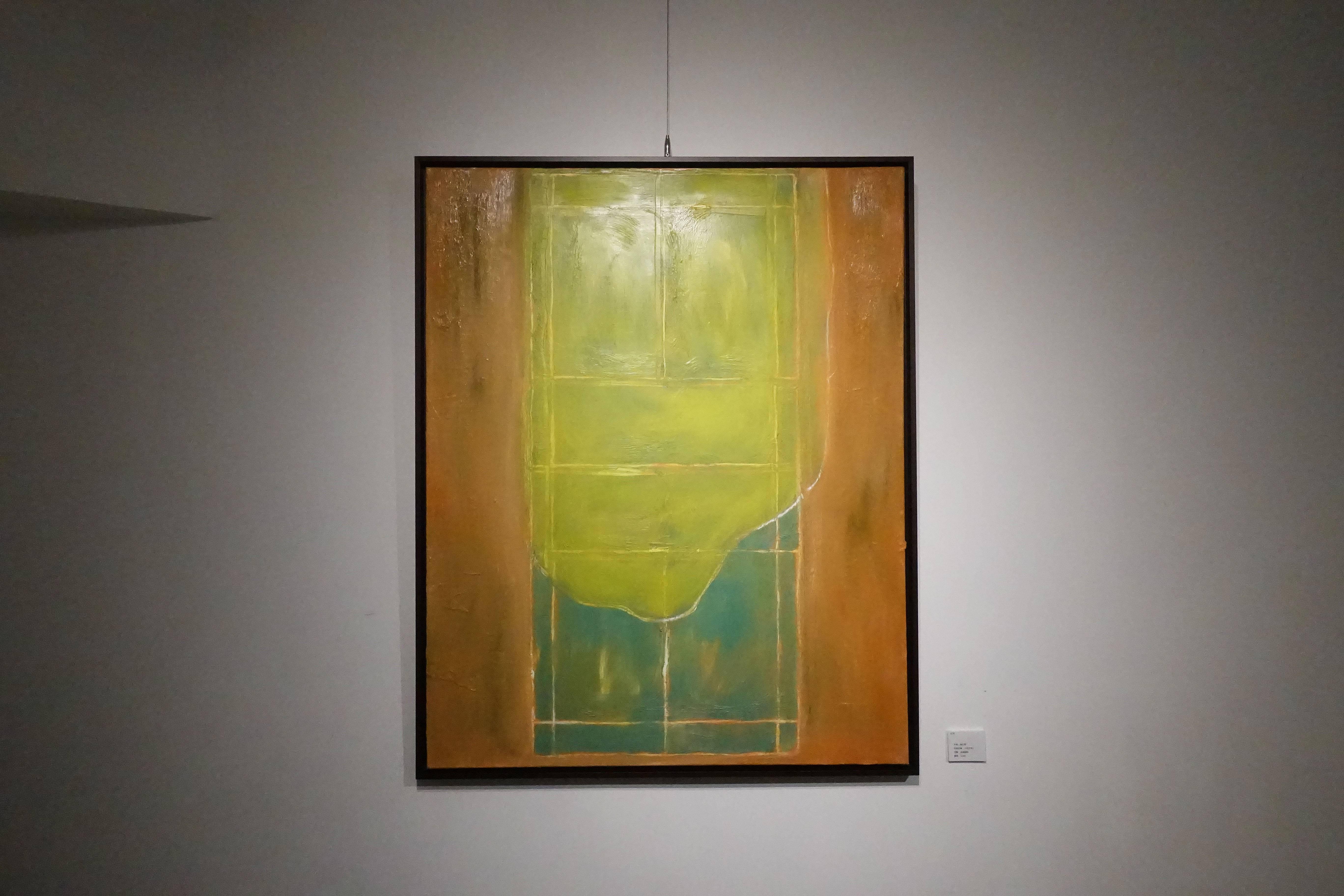 黃怡華,《中間立場I》,油畫顏料,2018。