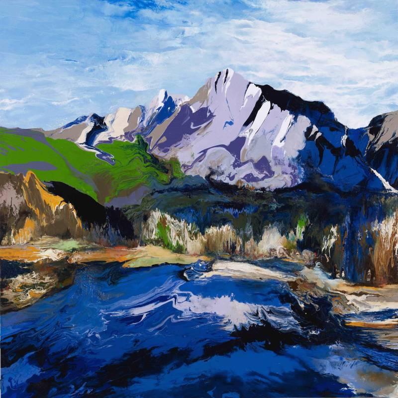山水對話 | 油畫 Oil on Canvas |137x137x5cm |2010
