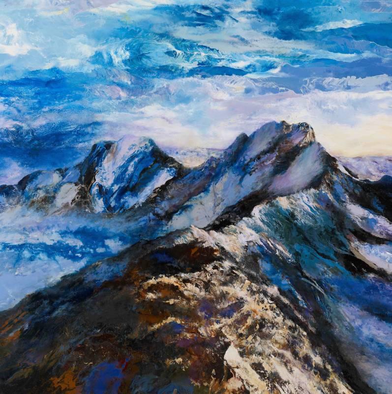 玉山雄姿 | 油畫 Oil on Canvas |  133x133x5cm | 2010