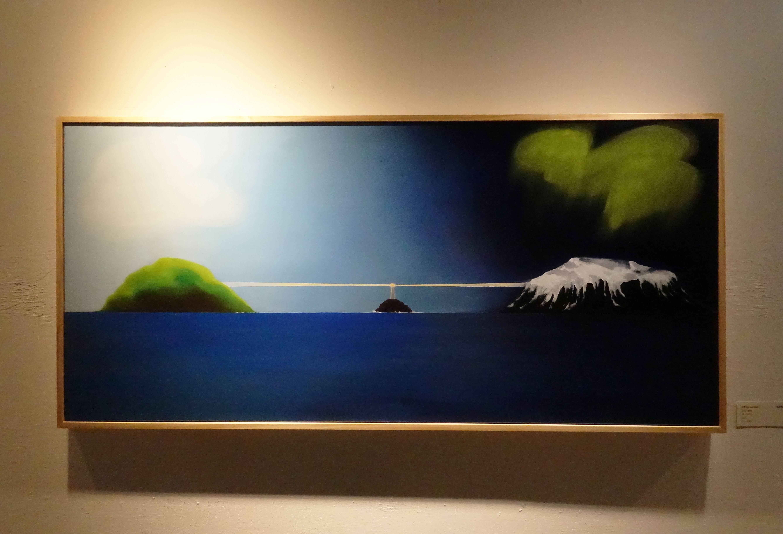張友鷦,《日夜》,油彩畫布,2018。