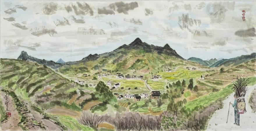 李賢文_洋上村全覽圖。