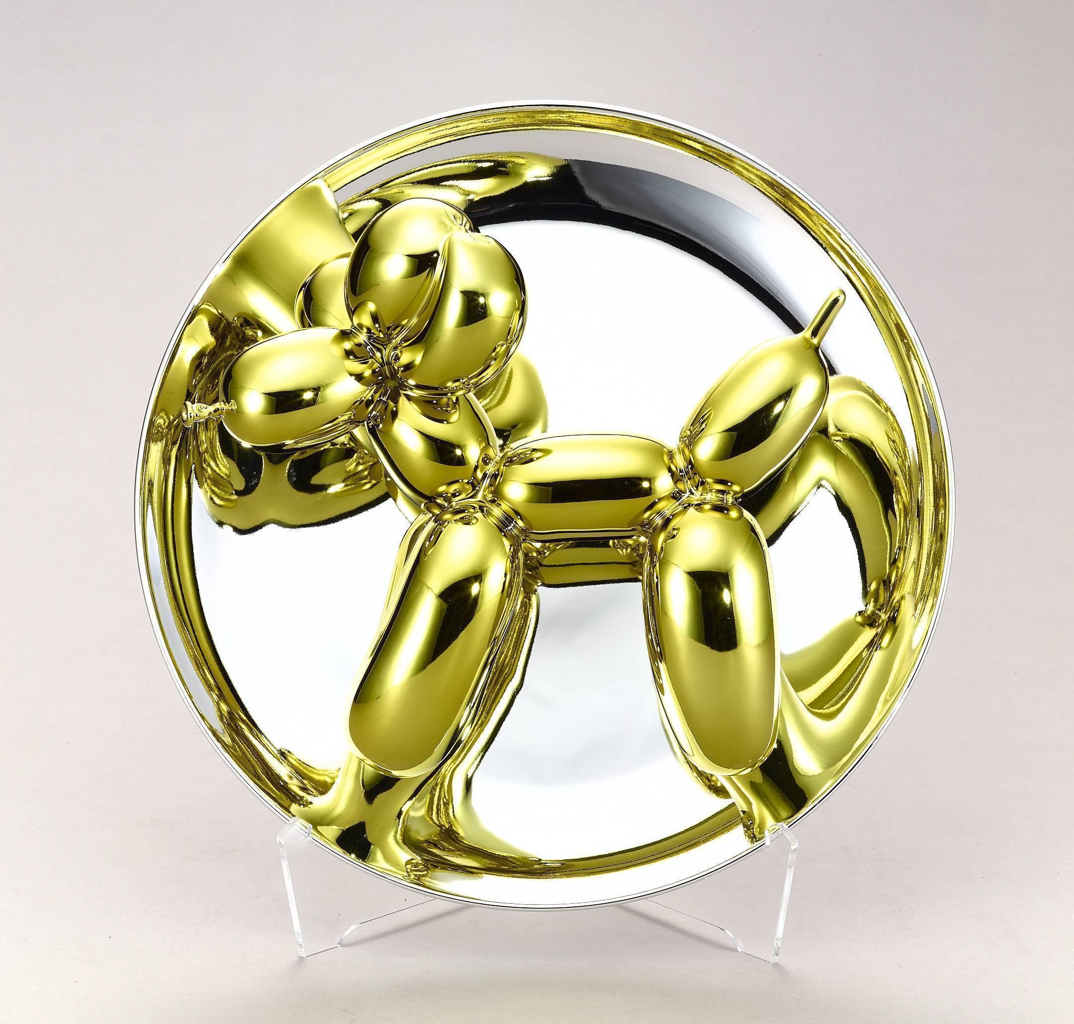 傑夫昆斯|氣球狗系列| 氣球狗(黃金)|2015|26.7x26.7x12.7 cm