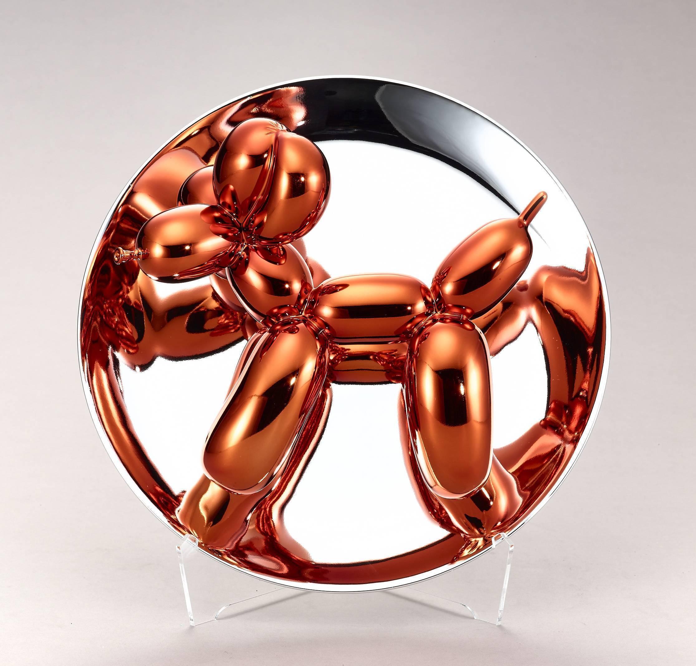傑夫昆斯|氣球狗系列|氣球狗(澄橘)|2015|26.7x26.7x12.7 cm
