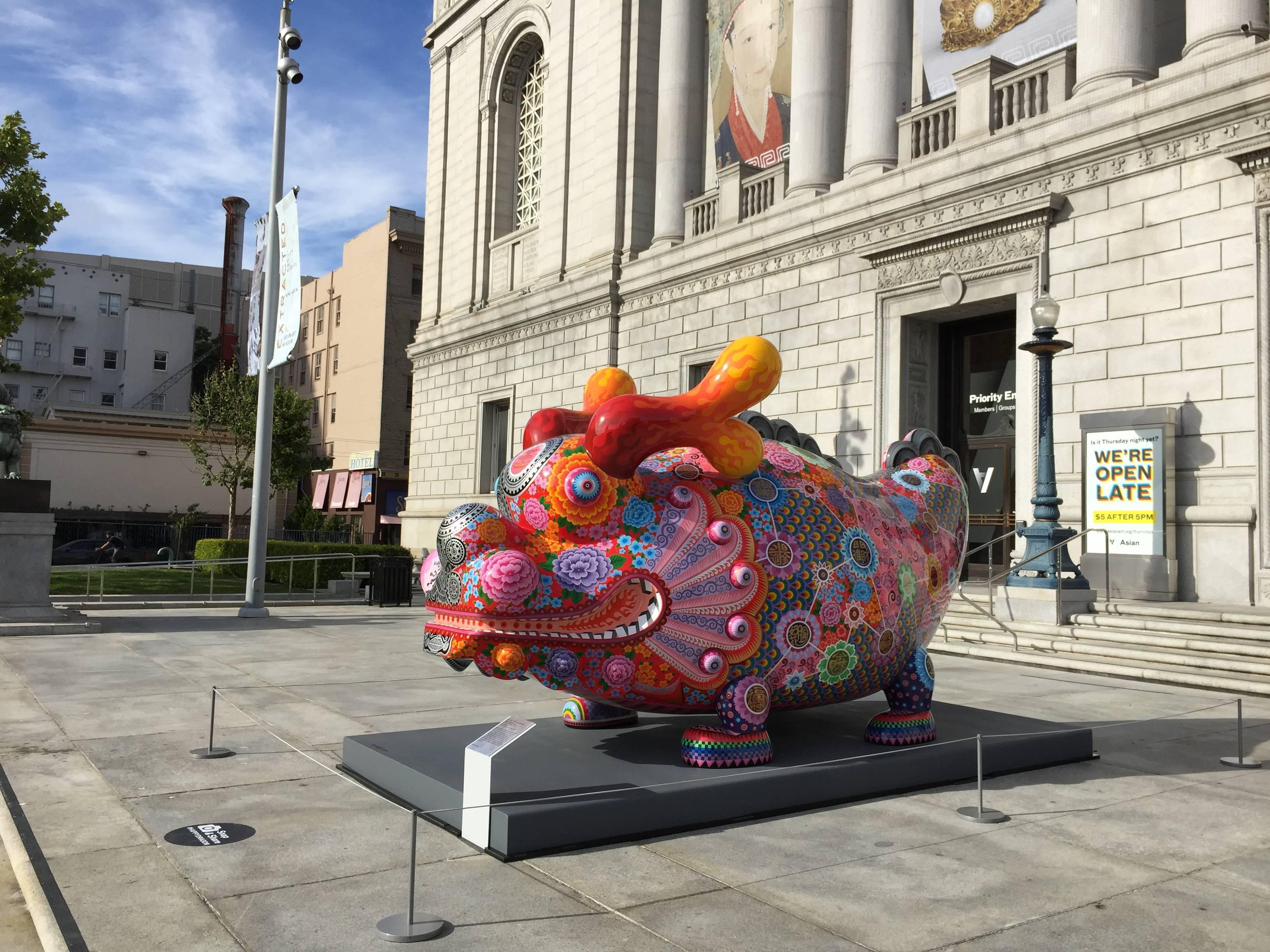 舊金山亞洲美術館典藏洪易「大福龍」 |大福龍2013|鋼板彩繪|400x170x220 cm