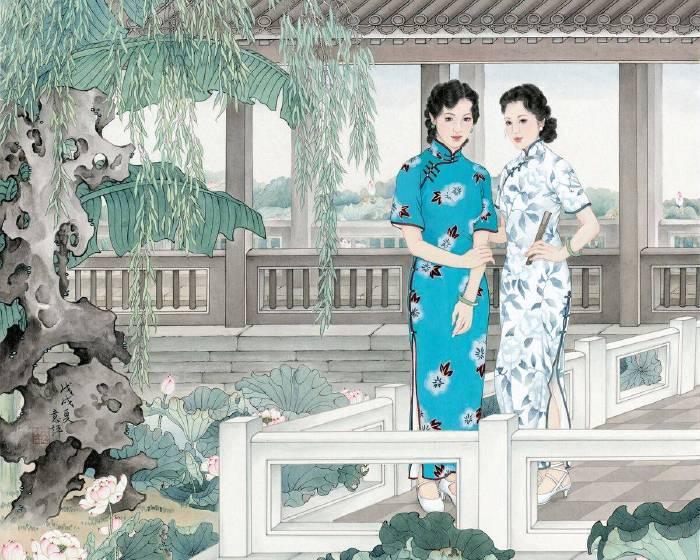 大觀藝術空間《流光‧佳媛》王意評個展 展現中國仕女的現代美典