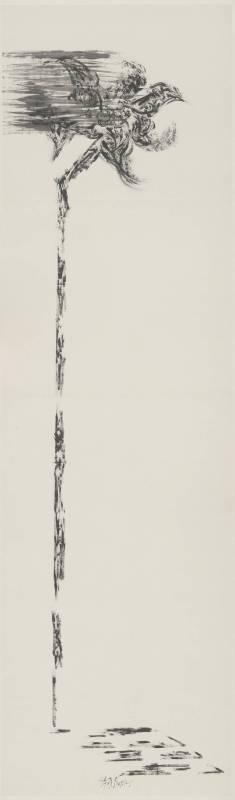 許雨仁 粗筆系列之十九 70x240cm 2007 水墨、紙
