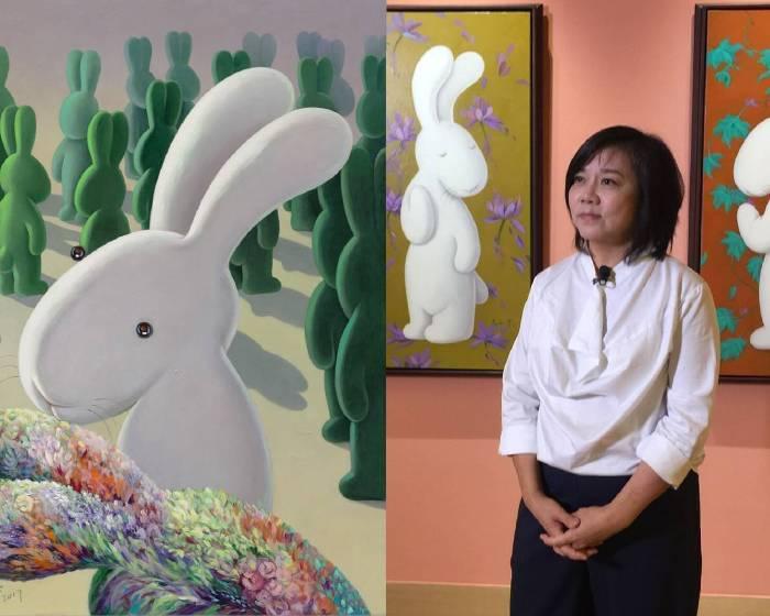 陪伴我們走過十年的可愛兔兔-尼尼(Nini) 誠品畫廊展出黃本蕊個展「少數當家」