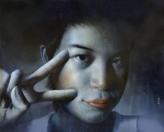 羅展鵬 草莓族青春日誌1 2006 油彩 120x162cm