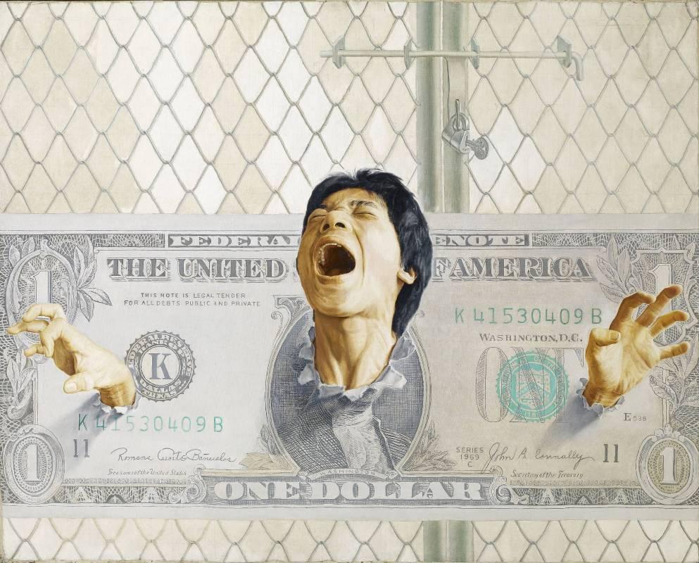 吳天章|枷鎖|1979|油彩|130x162cm
