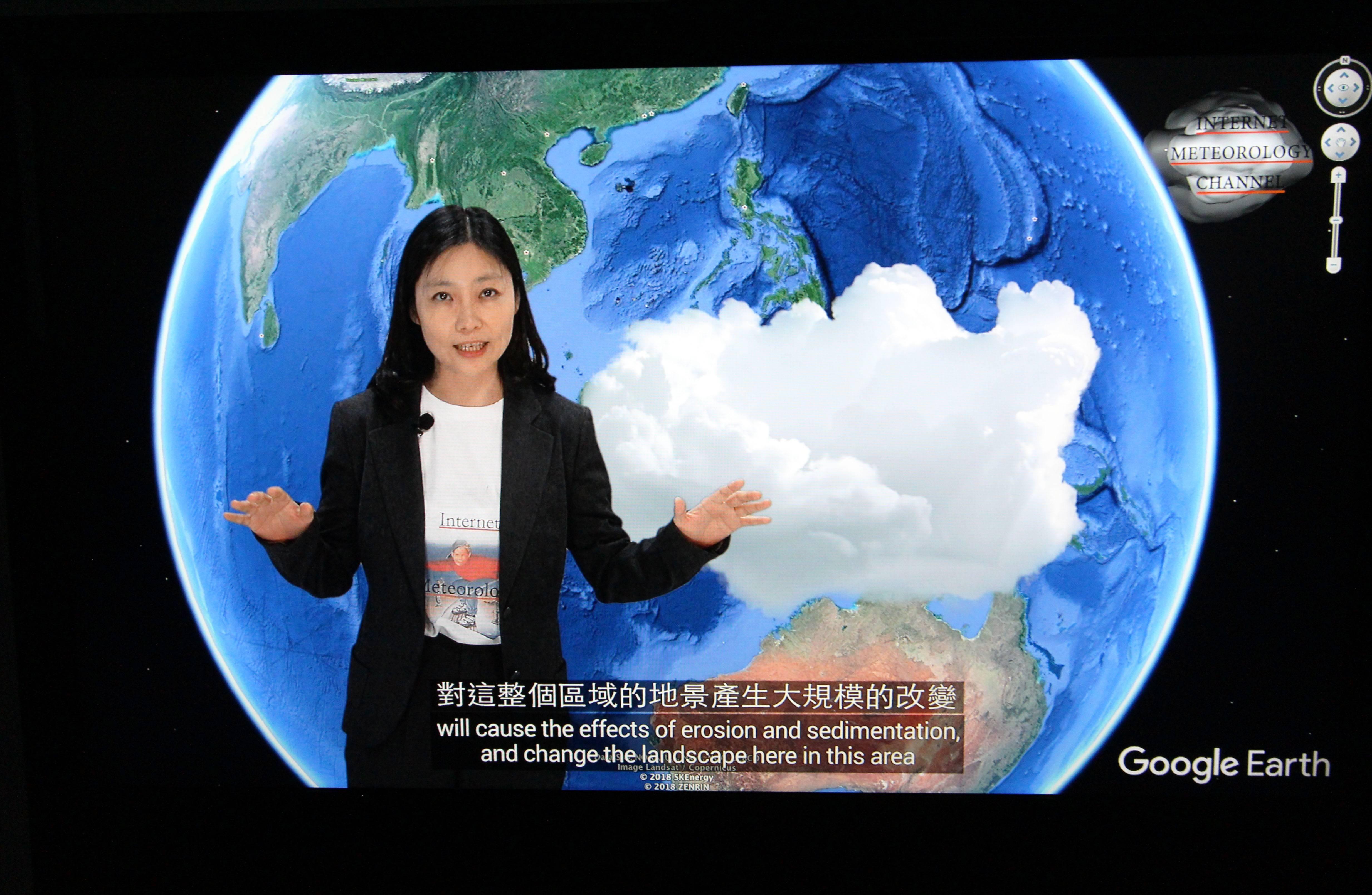 2018台北美術獎入選作品。陳呈毓,《雲氣平衡》, 錄像裝置,14分25秒/4分40秒,2018。